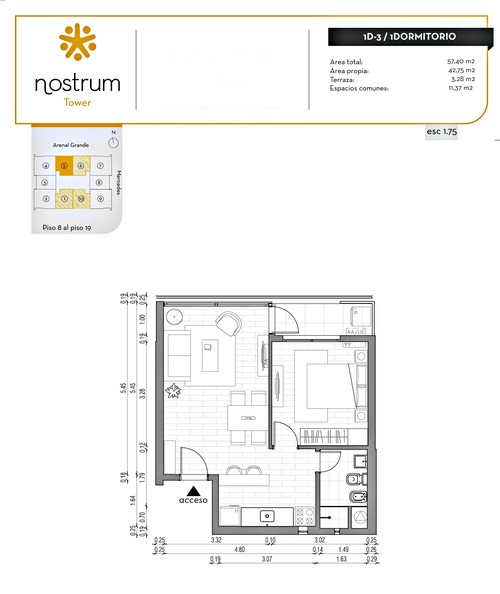 NOSTRUM TOWER - 1 dorm.